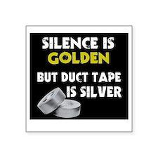 "Silence Square Sticker 3"" x 3"""
