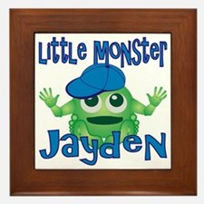 2-jayden-b-monster Framed Tile