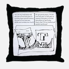 duofac_strip_inebriate Throw Pillow
