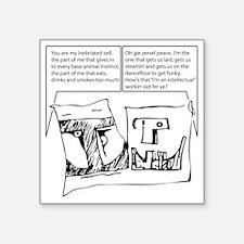 """duofac_strip_inebriate Square Sticker 3"""" x 3"""""""