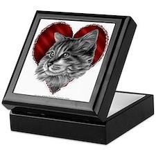 Maine Coon Valentine Keepsake Box