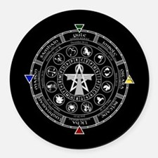 Wheel of the Year Zodiac Sabbats Round Car Magnet