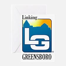 LinkingGreensboro_LetterMark-full_re Greeting Card