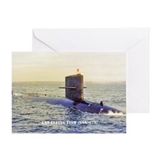 3-ffish post card Greeting Card