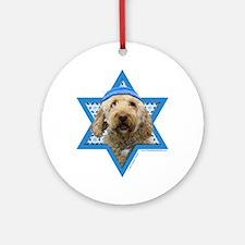 Hanukkah Star of David - Doodle Ornament (Round)