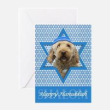Hanukkah Star of David - Doodle Greeting Card