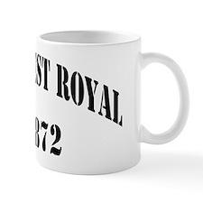 froyal black letters Mug