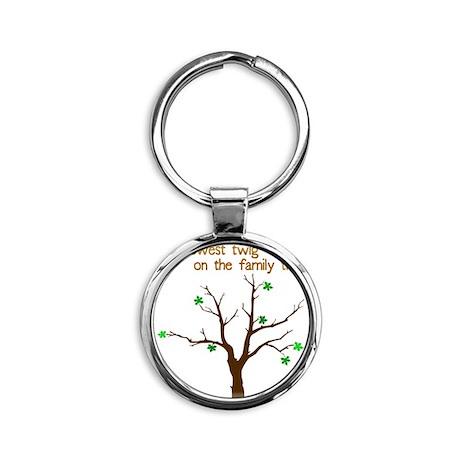 family_tree2 Round Keychain