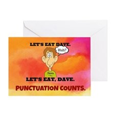 Punctuation Counts: Let's Eat Dave Greeting Card