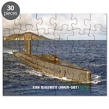 2-halibut large framed print Puzzle