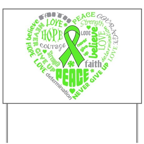 Muscular Dystrophy Heart Words Yard Sign