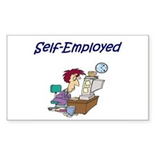 Self-Employed Rectangle Decal