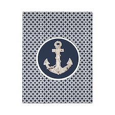 modern anchor nautical geometric patter Twin Duvet