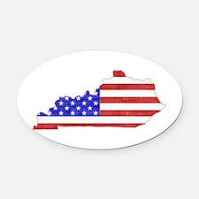 Kentucky Flag Oval Car Magnet