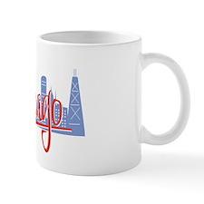 Chicago Red Script On Dark Mug