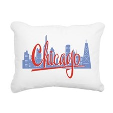 Chicago Red Script On Da Rectangular Canvas Pillow