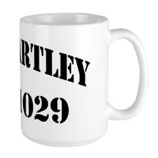 hartley black letters Mug