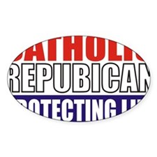 Catholic Republican (5x3) Decal