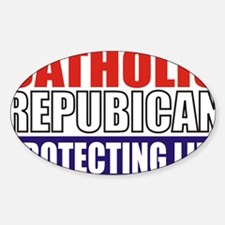 Catholic Republican (5x3) Sticker (Oval)