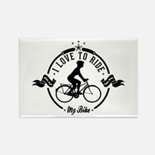 I Love To Ride My Bike Rectangle Magnet