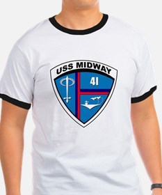 USS MIDWAY SHIELD-2.png T-Shirt
