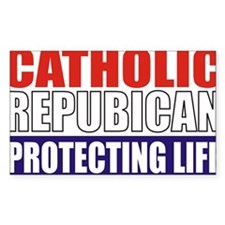 Catholic Republican (Tee2 Fron Decal