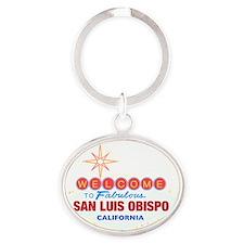 SAN LUIS OBISPO Oval Keychain