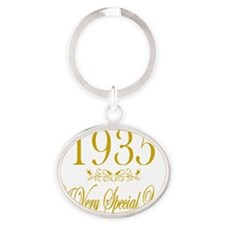 Anniversary Year 1935 Oval Keychain