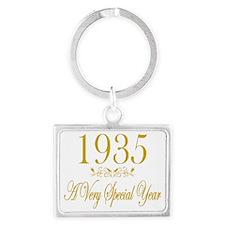 Anniversary Year 1935 Landscape Keychain