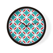 Mid Century Modern Retro Mod Overlappin Wall Clock
