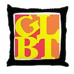 GLBT Hot Pop Throw Pillow