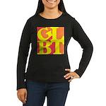 GLBT Hot Pop Women's Long Sleeve Dark T-Shirt