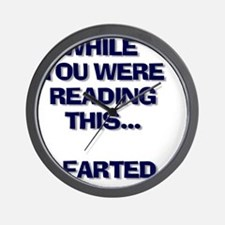 farted wait Wall Clock