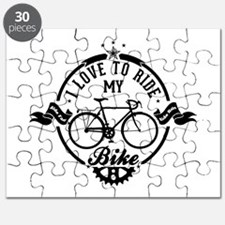 I Love To Ride My Bike Puzzle