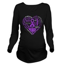 Lupus Heart Words Long Sleeve Maternity T-Shirt