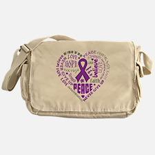 Lupus Heart Words Messenger Bag