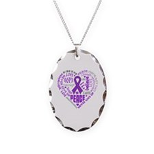 Lupus Heart Words Necklace