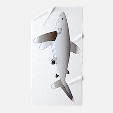 Oceanic Whitetip Shark Beach Towel