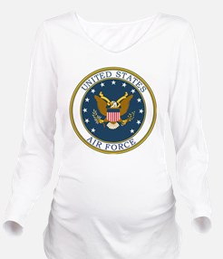 USAF-Patch-3 Long Sleeve Maternity T-Shirt
