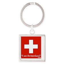 ia mswitzerland 2 Square Keychain