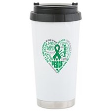 Liver Cancer Heart Words Travel Mug