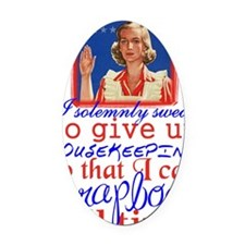 housekeeping-rd Oval Car Magnet