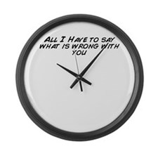Cool I is what i is Large Wall Clock