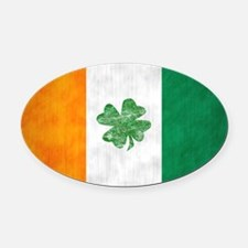 irish5 Oval Car Magnet
