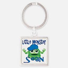 sean-b-monster Square Keychain