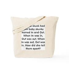 Skunk Riddle Tote Bag