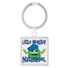 nathaniel-b-monster Square Keychain
