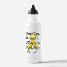 Dear Cupid Daddy Home  Water Bottle