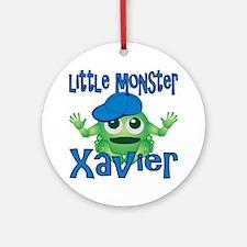 xavier-b-monster Round Ornament