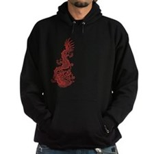 Chinese Red Dragon blk Hoodie